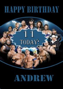 Personalised WWE Wrestlemania Birthday Card